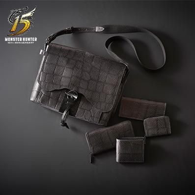 「黒龍 ミラボレアスモデル:バック、財布、コインケース」