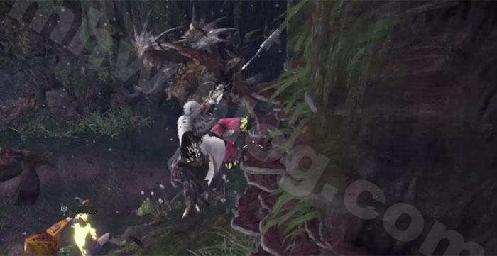 古代樹の森「エリア(6)」で「駆け上がり射撃」を活用①