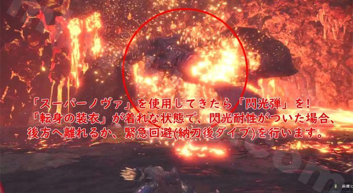 歴戦王テオ・テスカトル:スーパーノヴァは「閃光弾」を!