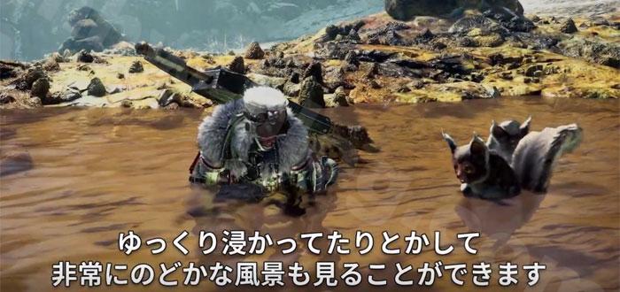 環境生物「温泉に浸かるお猿さん(名称不明)」