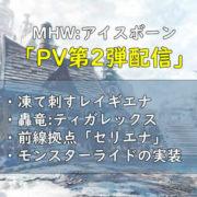 MHWI PV第2弾情報
