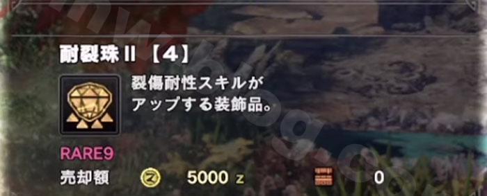 「耐裂珠Ⅱ」スキル