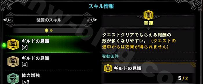 「EXギルドパレス」装備一式装備のスキルと性能①