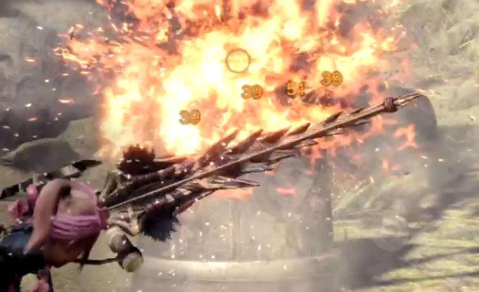 火属性弓「蛮顎竜ノ火矢Ⅱ」の攻撃力