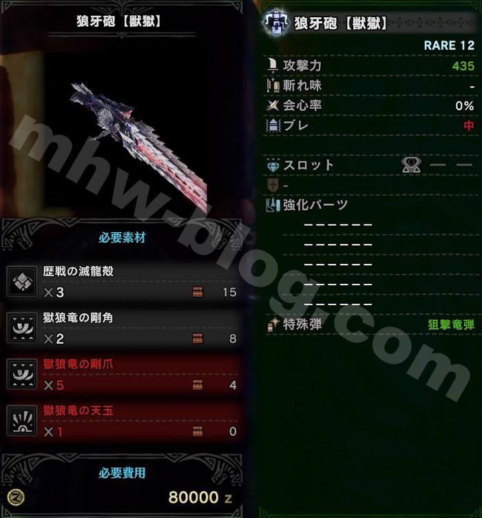 ヘヴィ「狼牙砲【獣獄】」1