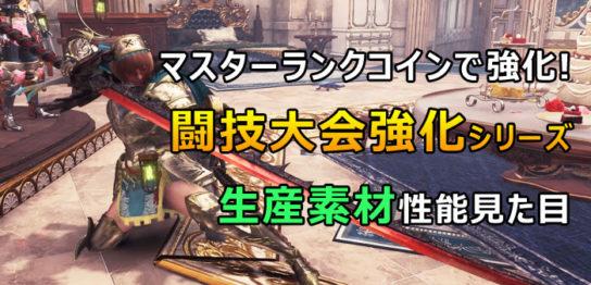 マスターランク級闘技大会武器
