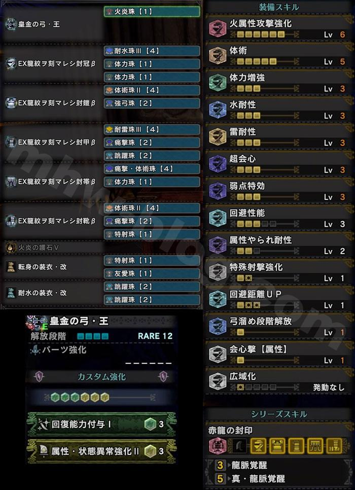 歴戦王ネロミェール用「皇金の弓・王」装備セット②