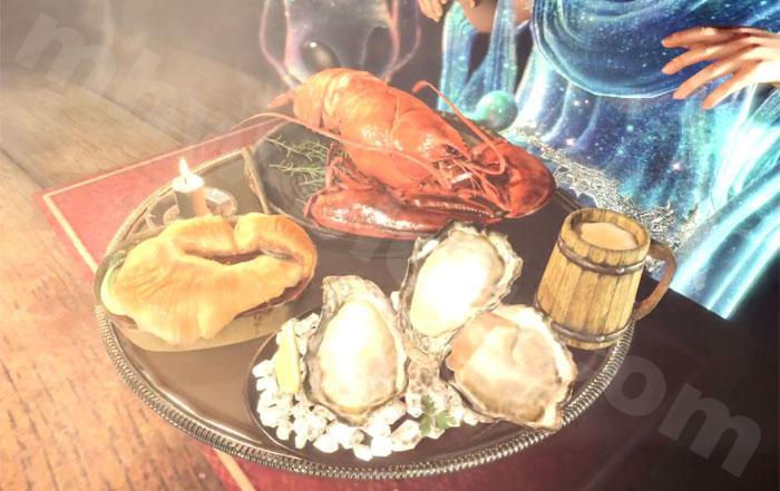 【大感謝の宴】定食のお食事スキル効果:食事の配膳演出②