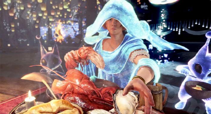 【大感謝の宴】定食のお食事スキル効果:食事の配膳演出③