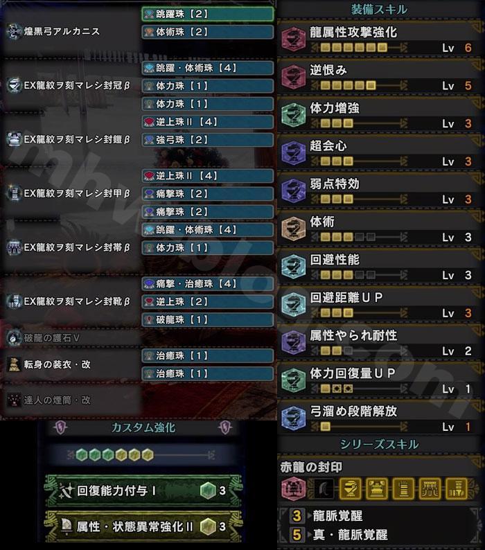 特別任務「暁の凱還」初戦用弓装備:「真・龍脈覚醒」付装備セット