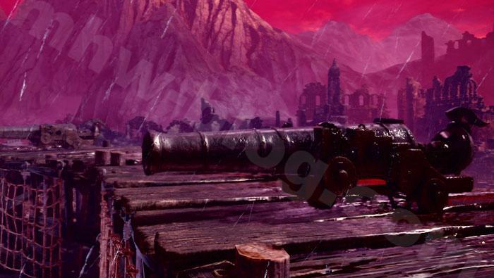 「シュレイド城」の兵器について:大砲