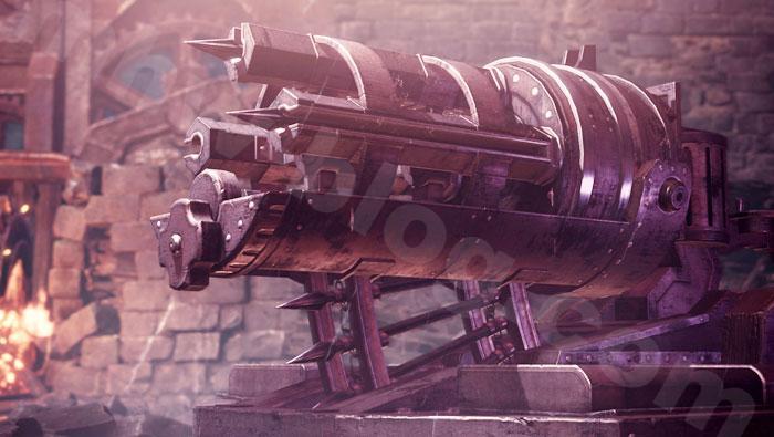 「シュレイド城」の兵器について:速射バリスタ(?)