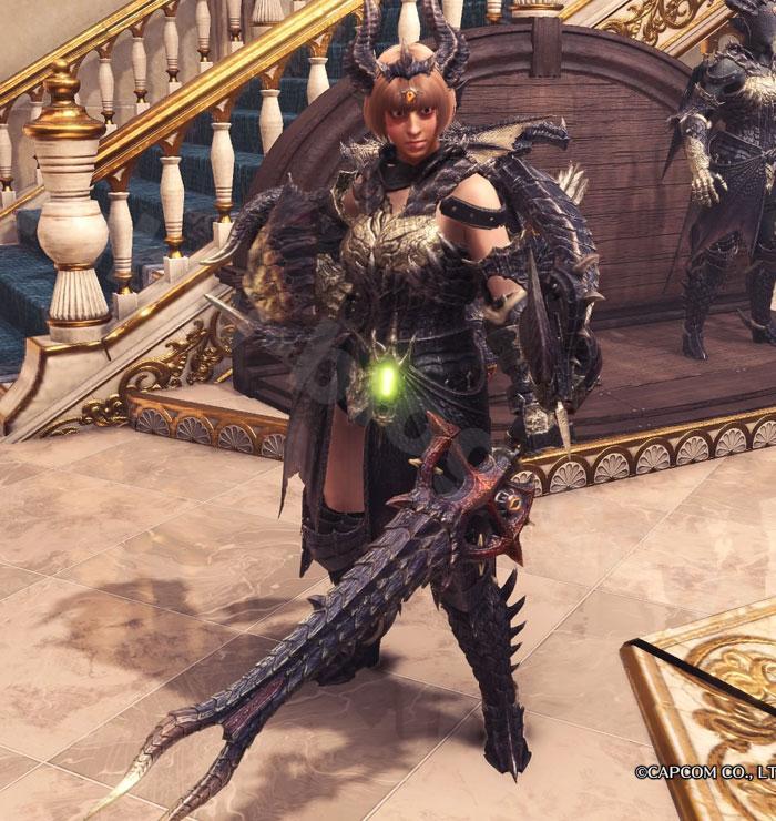 ミラボレアス武器:片手剣「真・黒龍剣」見た目