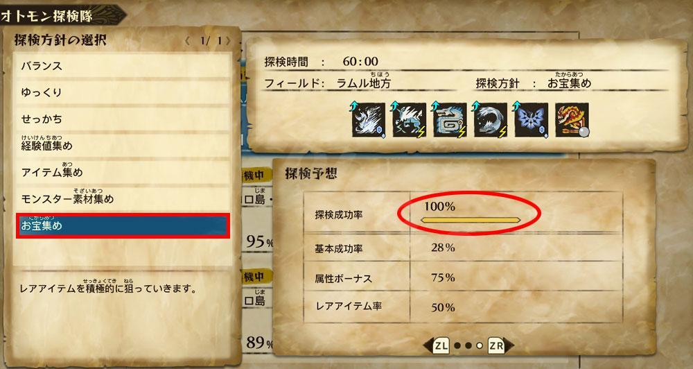 ストーリーズ2の効率良い金策:オトモ探検隊の上位報酬一覧②