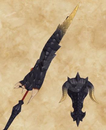 STORIES2:黒龍ミラボレアス武具:ガンランス「黒龍銃槍」