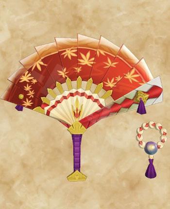 「天眼タマミツネ」生産武具一覧:片手剣「さにつらう色扇の唐楓」