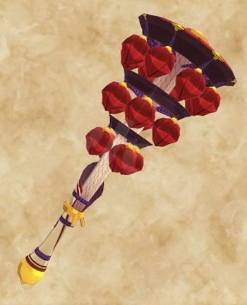 「天眼タマミツネ」生産武具一覧:狩猟笛「あしたづの音鳴の紅舞」