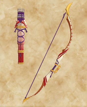 「天眼タマミツネ」生産武具一覧:弓「あかねさし照弓の日輪」