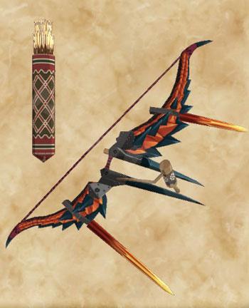 弓「絶衝弓【虎翼】」:弓「グロードボウネラ」