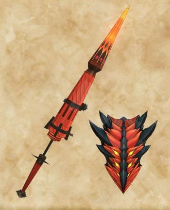 「黒炎王リオレウス」生産武具一覧:ガンランス「リガルチャリオット」
